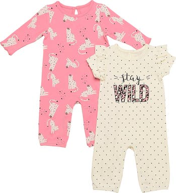Stay Wild Jumpsuits - Pack of 2 Baby Starters