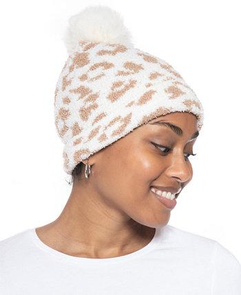 Пушистая шапка из жаккарда с помпонами, созданная для Macy's Jenni