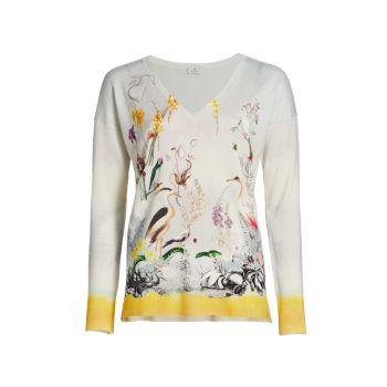 Floral V-Neck Sweater Etro