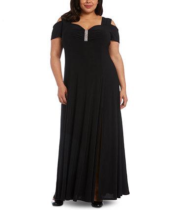 Платье больших размеров со стразами R & M Richards