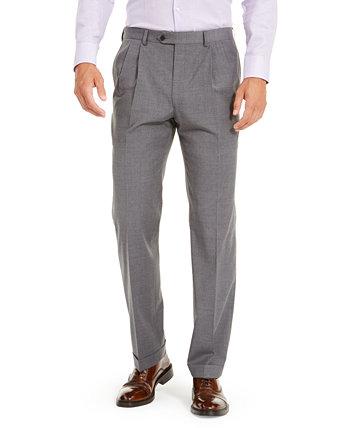 Мужские шерстяные классические брюки UltraFlex с двойным реверсом и плиссированными классическими брюками Ralph Lauren