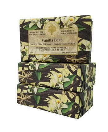 Мыло с ванильными стручками, упаковка из 3 штук, каждая по 7 унций Wavertree & London