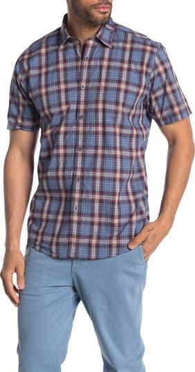 Рубашка стандартного кроя с короткими рукавами в клетку Foster COASTAORO