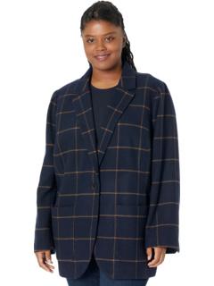 Пиджак большого размера Chicago в цвете Pop Windowpane Madewell