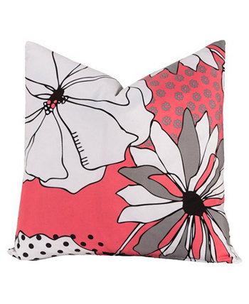 Дизайнерская декоративная подушка с цветочным орнаментом, 16 дюймов Crayola