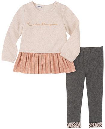 Комплект из 2 предметов для маленьких девочек Calvin Klein