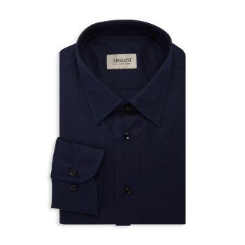 Однотонная классическая рубашка Armani Collezioni