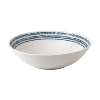 Изготовлено Royal Doulton Cobalt Blue Chevron Serving Bowl ED Ellen DeGeneres