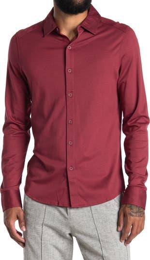 Трикотажная рубашка с длинным рукавом на пуговицах спереди Raffi