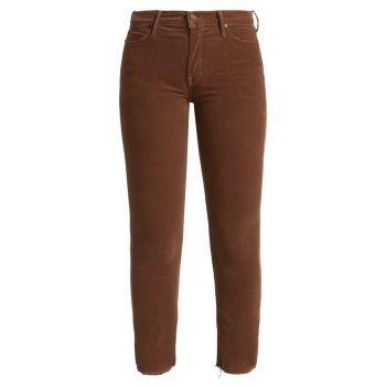 Вельветовые брюки Dazzler со средней посадкой MOTHER