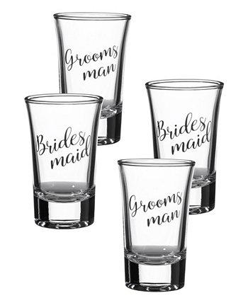 Рюмки для подружек невесты и жениха, набор из 4 шт. Lillian Rose
