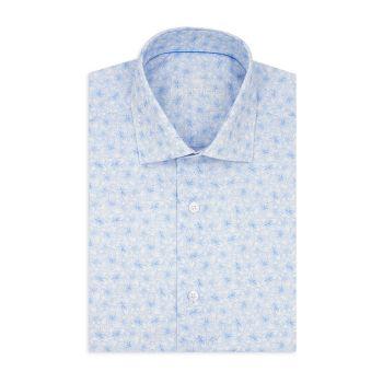 Рубашка из поплина с короткими рукавами и принтом современного кроя Bertigo