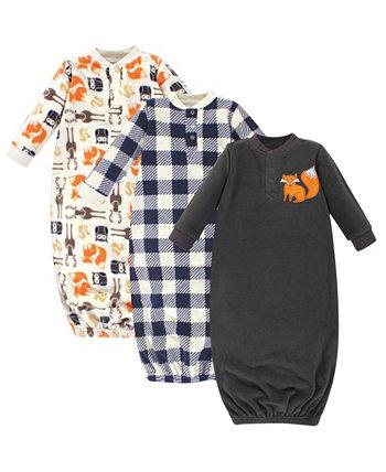 Флисовое платье Baby Boy, 3 упаковки Hudson Baby