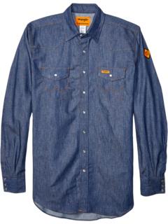 Огнестойкая рабочая рубашка с длинными рукавами и кнопками Wrangler
