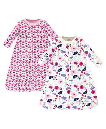 Baby Girls Ботанический спальный мешок с длинным рукавом, 2 шт. В упаковке Touched by Nature