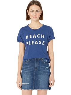 Пляжная футболка Slub с короткими рукавами, пожалуйста, в клетку The Original Retro Brand