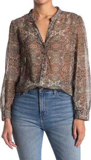 Блуза с разрезным вырезом и принтом пейсли Velvet Heart