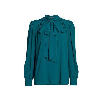 Блуза из крепдешина из эластичного шелка Tieneck Alberta Ferretti