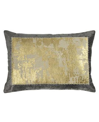 Подушка из льняной ткани с металлическим кружевом MICHAEL ARAM