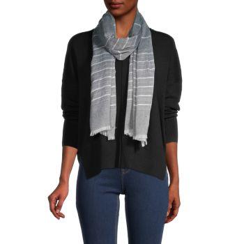 Полосатый шарф с потрепанной отделкой Calvin Klein