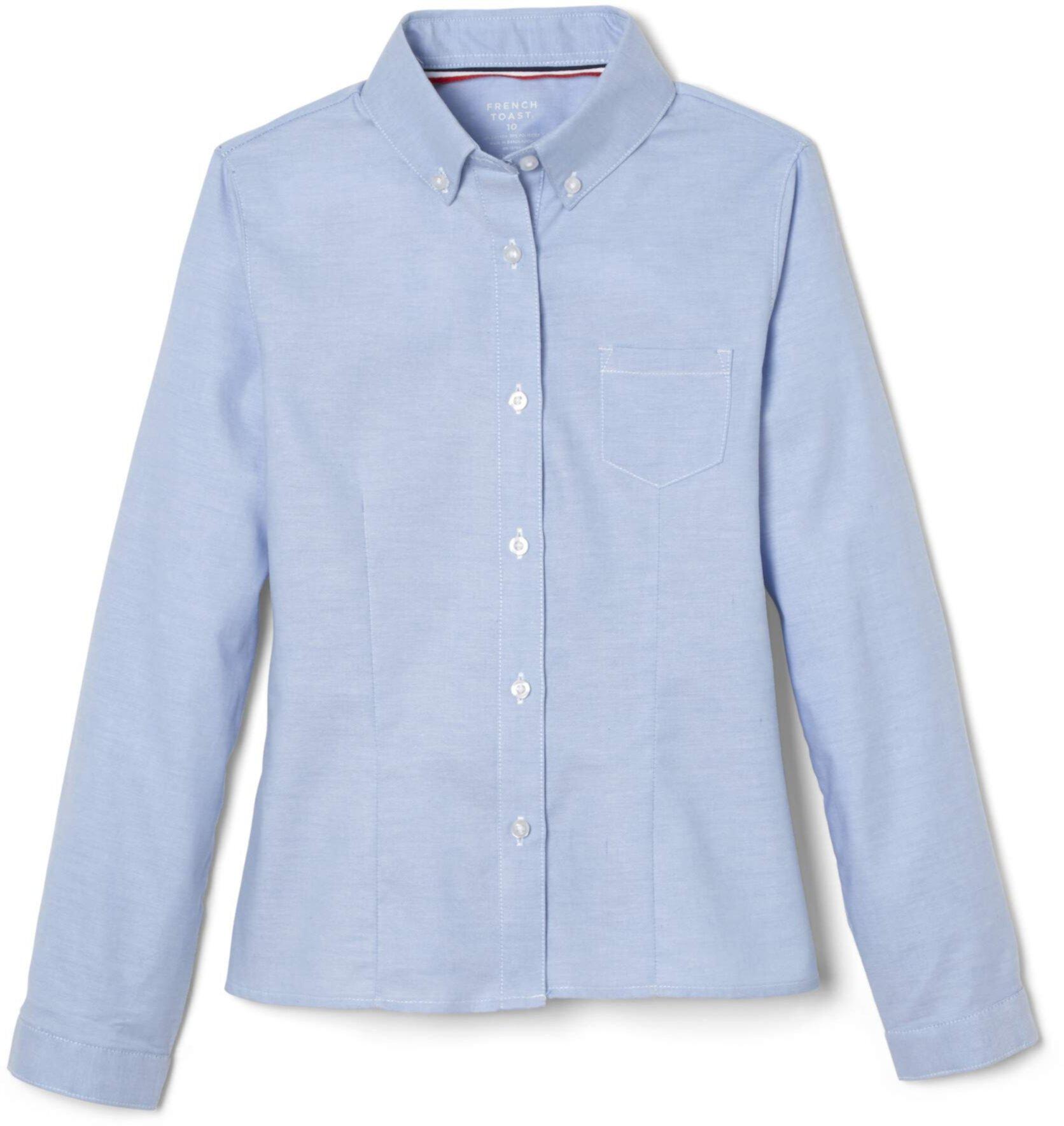 Оксфордская блузка с длинным рукавом (для маленьких / больших детей) French Toast
