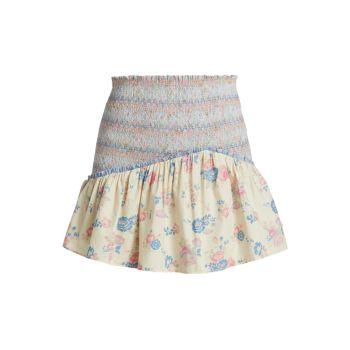 Мини-юбка Anguilla со сборками LOVESHACKFANCY