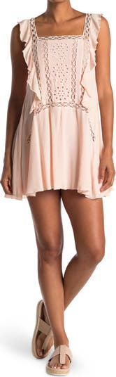 Мини-платье с рюшами и проушинами Wishlist