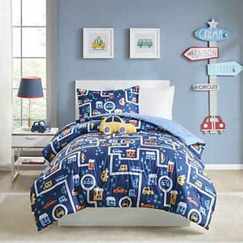 Mi Zone Kids Jordan Traveling Cars Printed Comforter Set with Shams Mi Zone Kids