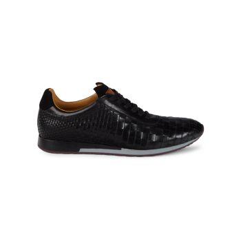 Toronado Woven Leather Sneakers Mezlan