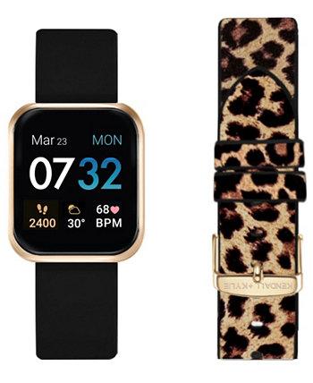 Набор смарт-часов с черным и леопардовым принтом для женщин, 36 мм KENDALL + KYLIE