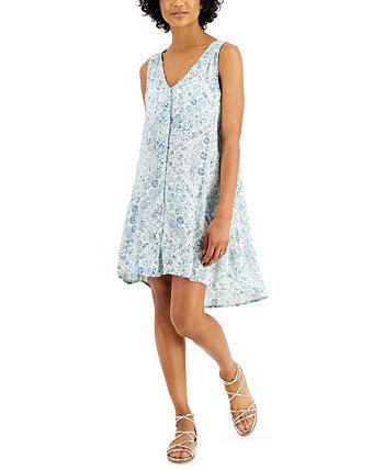 Платье-накидка с принтом High-Low J Valdi