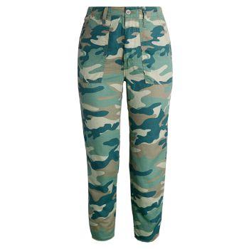 Укороченные брюки с камуфляжным принтом Shaker MOTHER