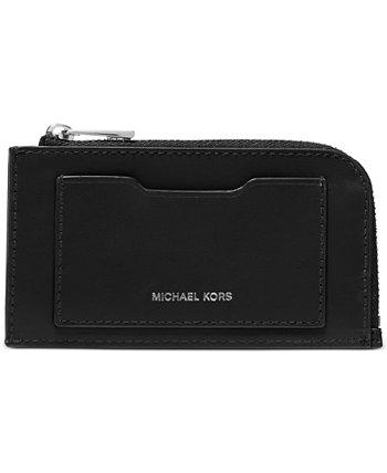 Мужской кожаный кошелек на молнии Michael Kors