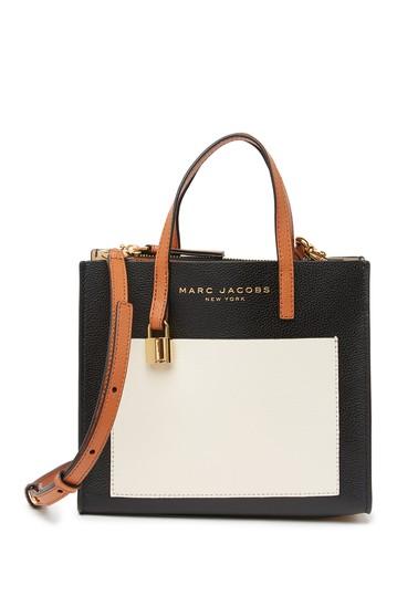 Кожаная большая сумка Mini Grind с цветными блоками Marc Jacobs