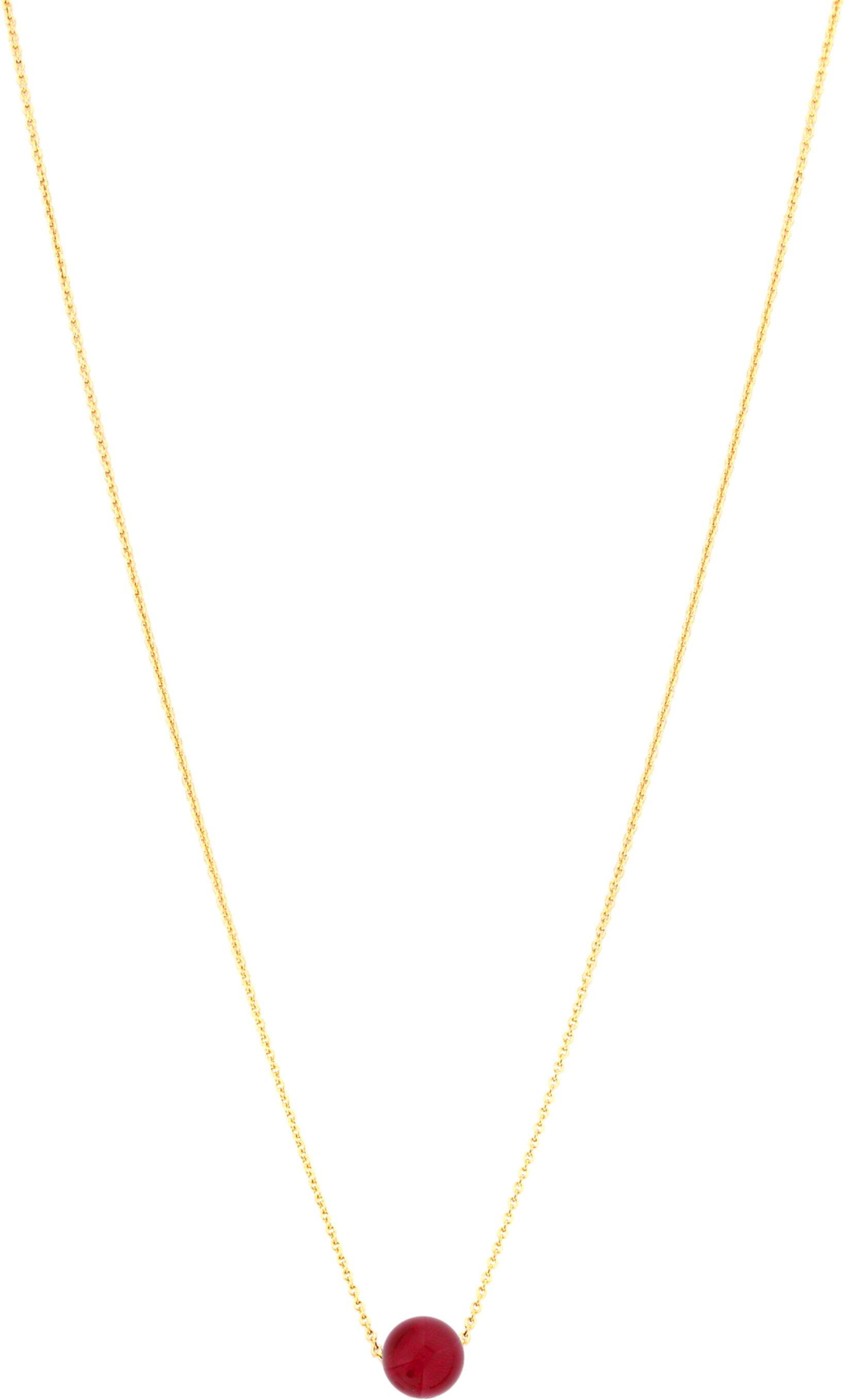 Ожерелье с драгоценным камнем One Love, 18 дюймов, рубиновый агат Dee Berkley