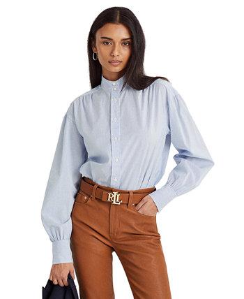 Рубашка из хлопкового сукна в полоску Ralph Lauren