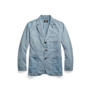 Спортивное пальто из твила индиго Ralph Lauren