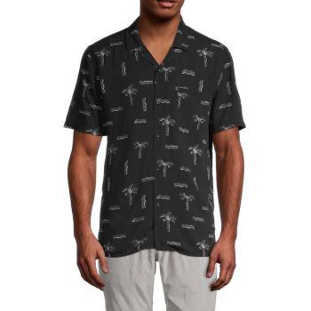 Рубашка с коротким рукавом с принтом деревьев Civil Society