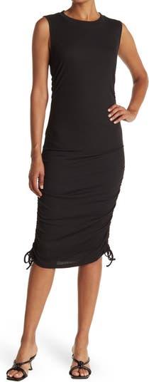 Трикотажное платье без рукавов с завязками по бокам ONE ONE SIX