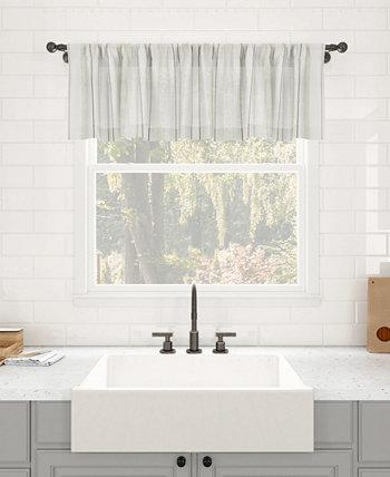 """Пылезащитная прозрачная занавеска для кафе в стиле ретро в полоску, 50 """"x 14"""" Clean Window"""