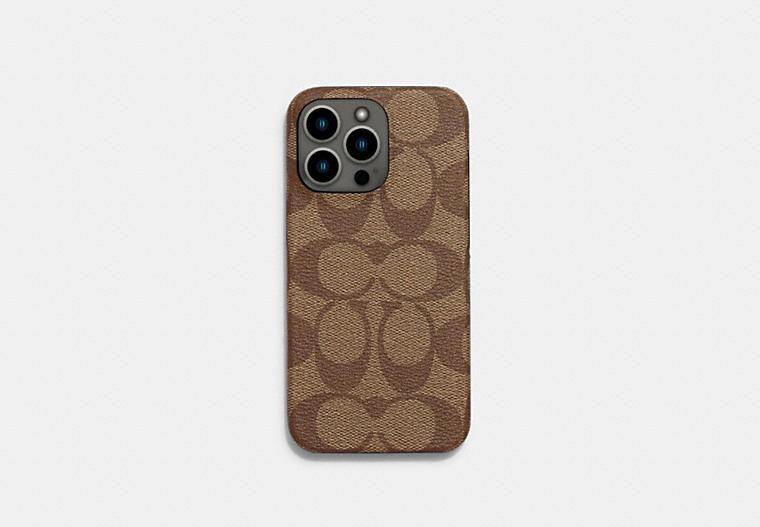 Iphone 13 Pro Case In Signature Canvas COACH
