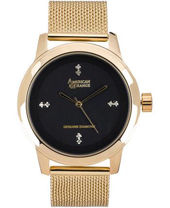 Мужские подлинные часы Diamond Collection, 44 мм American Exchange