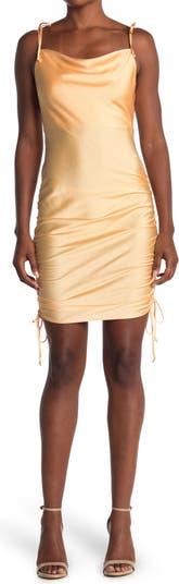 Облегающее платье со сборками сбоку и завязками на плечах KENEDIK