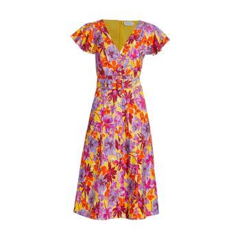 Платье миди с цветочным принтом Inez Tanya Taylor