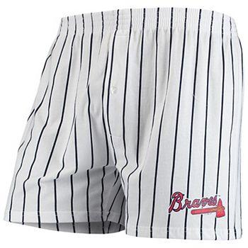 Men's Concepts Sport White Atlanta Braves Vigor Boxer Shorts Unbranded