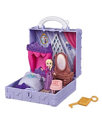 Всплывающий игровой набор для спальни Эльзы с ручкой, включающий куклу Эльзы, дневник, стул и одеяла, Disney Movie Pop Adventures Frozen