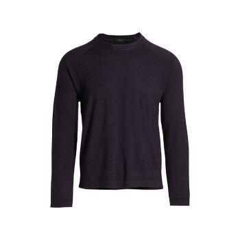 Шерстяной пуловер с круглым вырезом Z Zegna