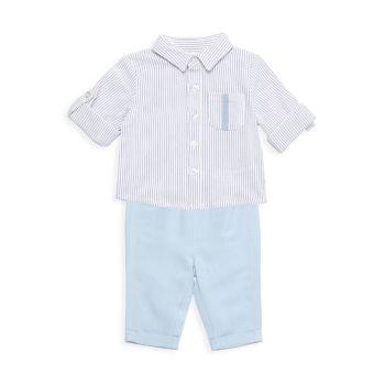 Двухкомпонентная рубашка в тонкую полоску и amp; Комплект брюк Miniclasix