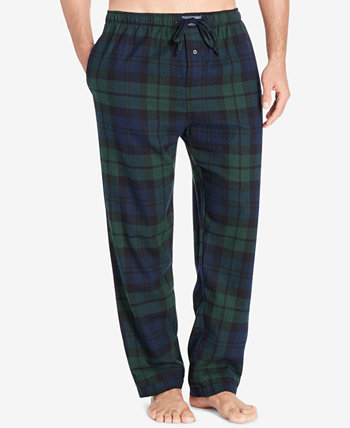 Мужские фланелевые пижамные брюки в крупную и высокую клетку из хлопка Ralph Lauren