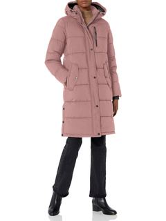 Eco-friendly Filled Long Puffer Coat With Hood BCBGeneration